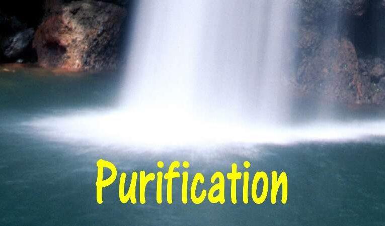 வேதத்தில் சொல்லப்பட்டு இருக்கும்  எழு விதமான சுத்திகரிப்பு. 7 process of purification.